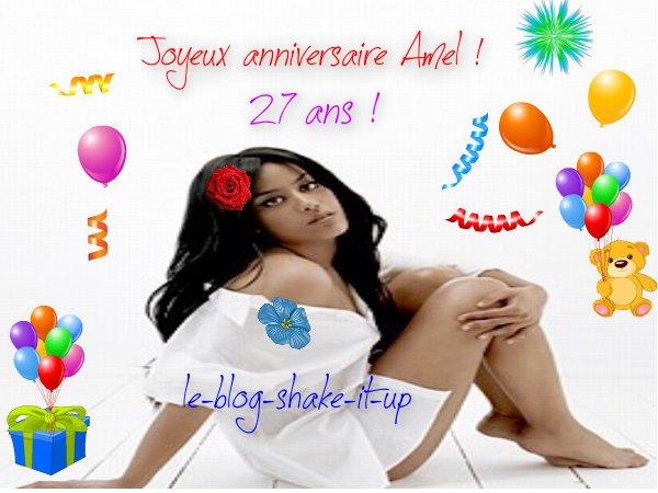 Joyeux anniversaire Amel !