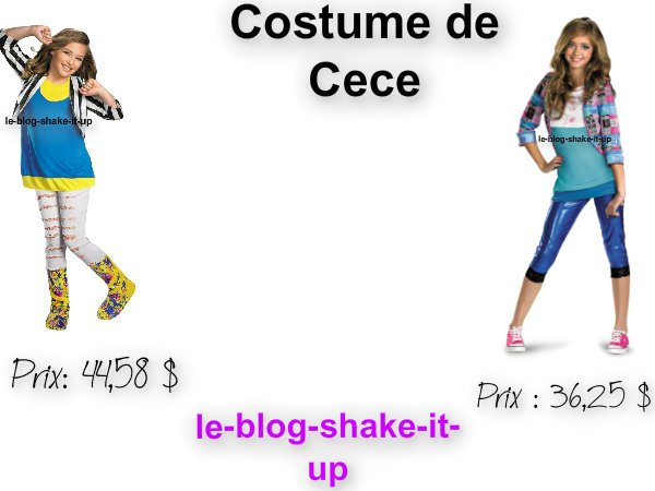 Costume shake it up