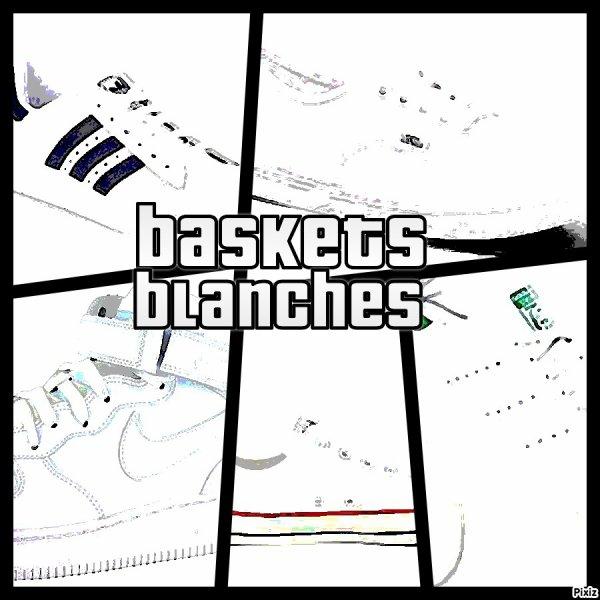 La folie des baskets blanches
