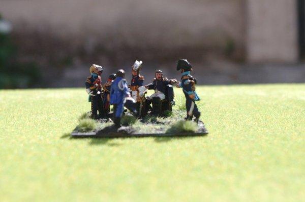 Diorama bataille de Reims du 13 Mars 1814 petit état-major de Napoléon 1er