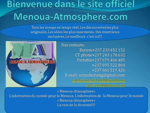 Menoua-Atmosphere.com, le site au c½ur de vos évènements