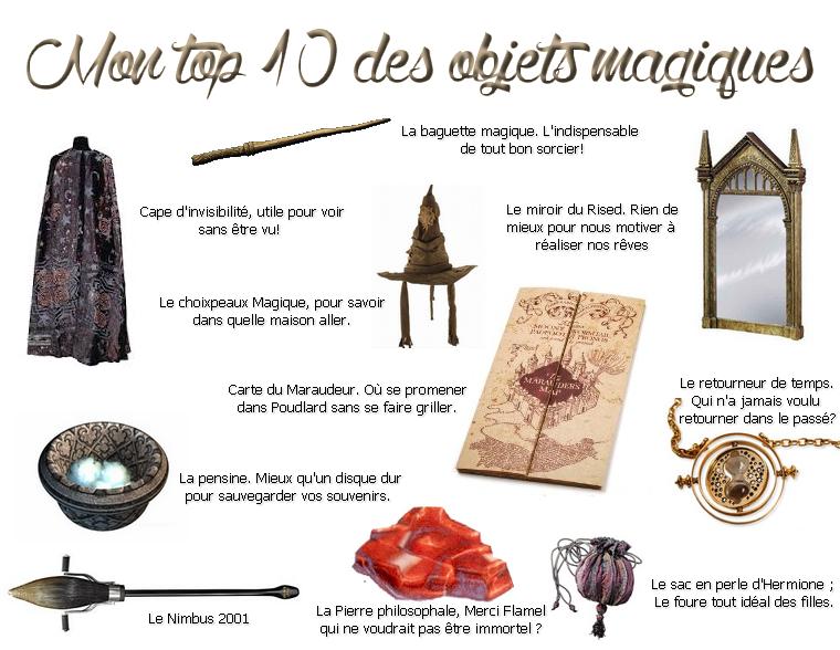 TOP 10 DES OBJETS MAGIQUES