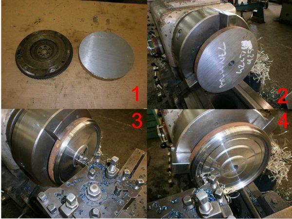 confection d'un volant moteur acier