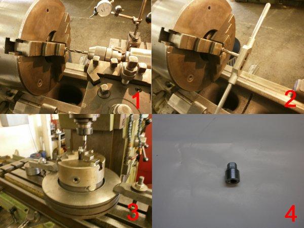 Confection de l'ecrou de fixation de l'entrainement de pompe