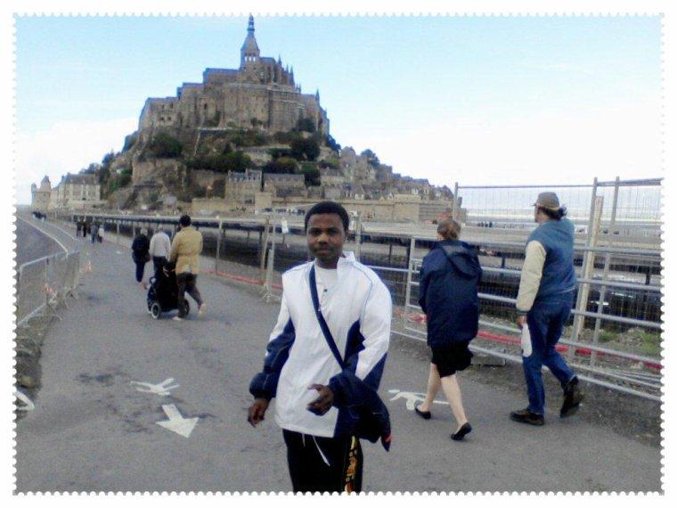moi à Mont-Saint-Michel