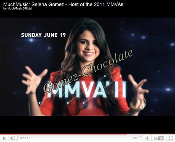 Le 19 juin, Selena sera la présentatrice des Much Music Vidéo Awards. Découvrir la vidéo de la promo: