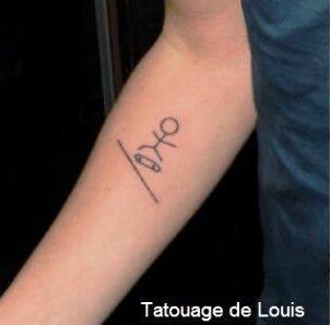 Nouveau tatouage pour Louis