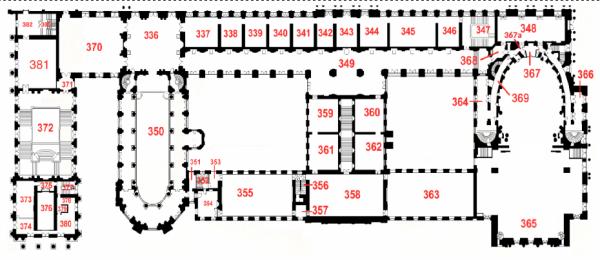Plan premier étage ailde nord