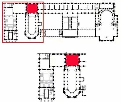 Premier étage -  Aile nord - 336 Vestibule haut de la chapelle royale