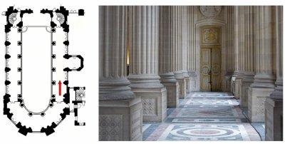 Premier étage - Aile nord - 350 Chapelle royale - Niveau tribune - Déambulatoire