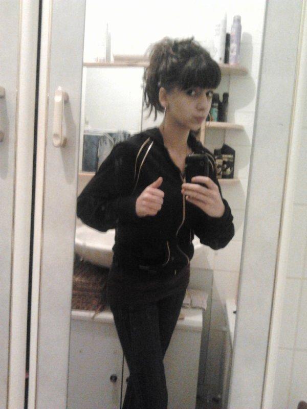 dans ma salle de bain en mode (galére) :p