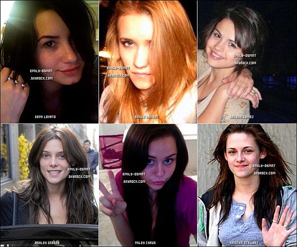 . De nombreuses stars comme Emily sortent sans maquillage, mais laquelle est la plus jolie au naturel ? Cette idée d'article a entièrement été rechercher par la webmiss, merci de ne pas prendre ! .