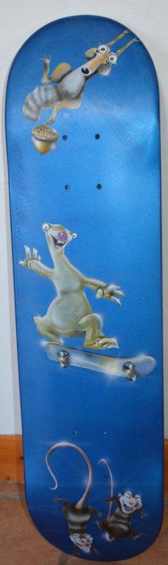 Petite récréation sur une skate board ...