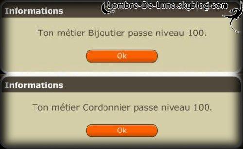☆ Precieux : Bijoutier et Cordonnier niveau 100 ! ☆