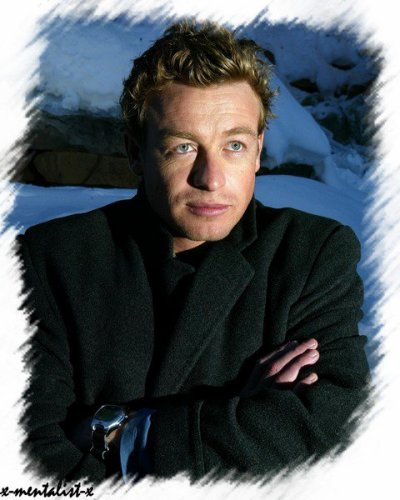 Simon Baker en plein hiver