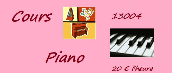 Donne cours de piano à Marseille