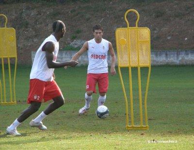 Cédric Mongongu avec Mathieu Coutadeur a L'entrainement !!!