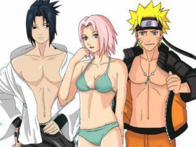 sasuke naruto est sakura vont a la plage !!