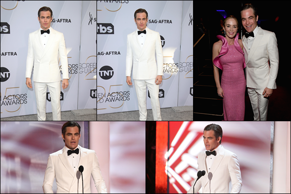 27/01/2019 : Chris Pine était présent aux  « 25th Annual Screen Actors Guild Awards » situé à Los Angeles