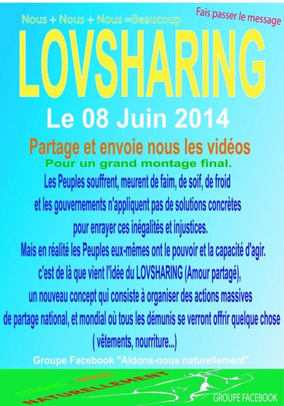 Prochain LOVSHARING le 08 Juin 2014
