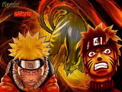 Naruto en demon renard naruto uzumaki - Coloriages naruto demon renard ...