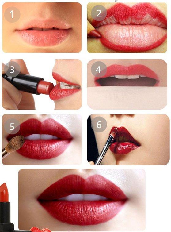 Comment appliquer le rouge à lèvre !