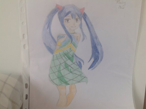 Dessin de Wendy Marvell (Fairy Tail )