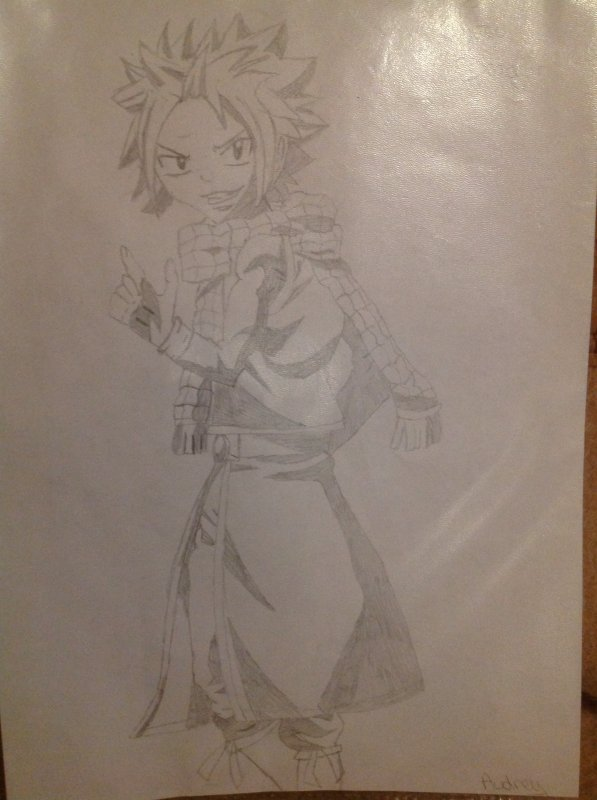 Voici mon dessin de Natsu Dragnir (Fairy Tail)