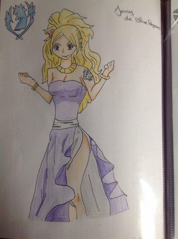 Dessin de Jenny de Blue Pegasus !! ( Manga Fairy Tail )