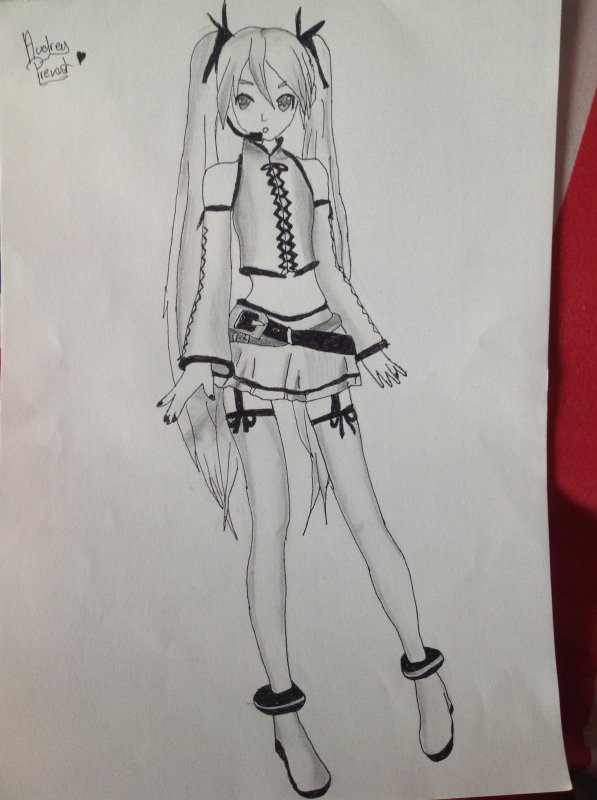 Dessin Vocaloid Miku Hatsune Aile D Ange Susuna Drawing And Others