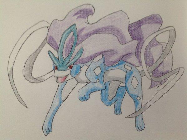Dessin de Suicune (Pokémon)
