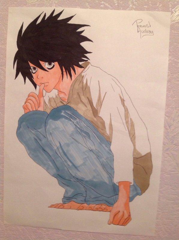 Dessin de L (Death Note)