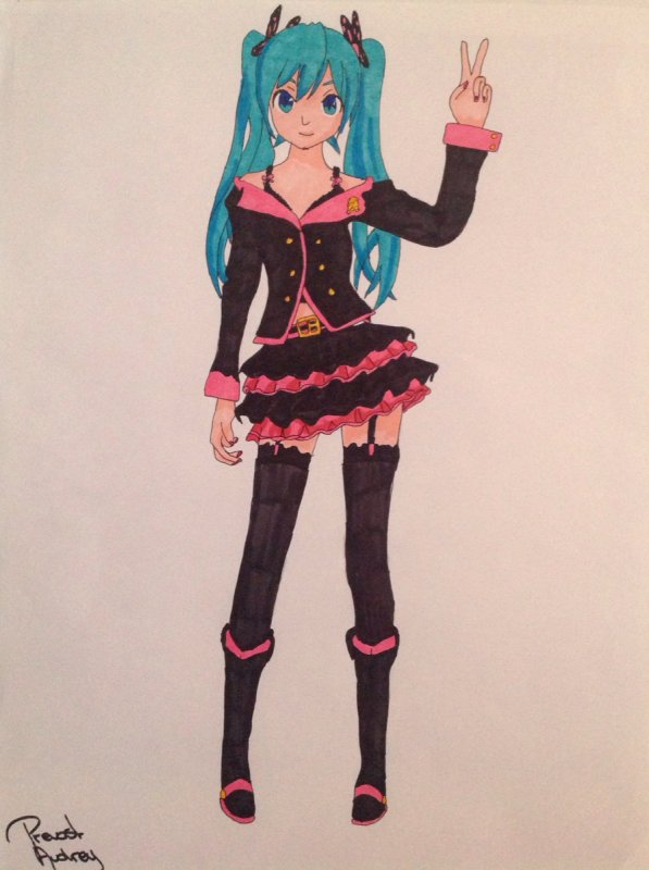 Dessin de Hatsune Miku : Honey Whip !