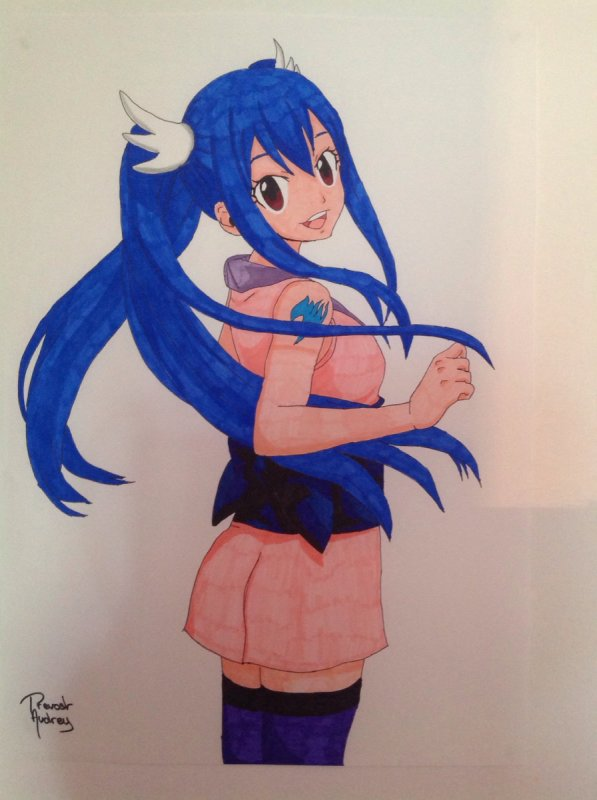Dessin de Wendy Marvell (Fairy Tail) n°2