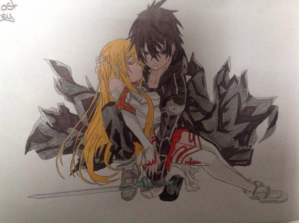 Dessin de Kirito et Asuna n°3 ( Sword Art Online )