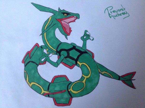Dessin de Rayquaza ( Pokemon )