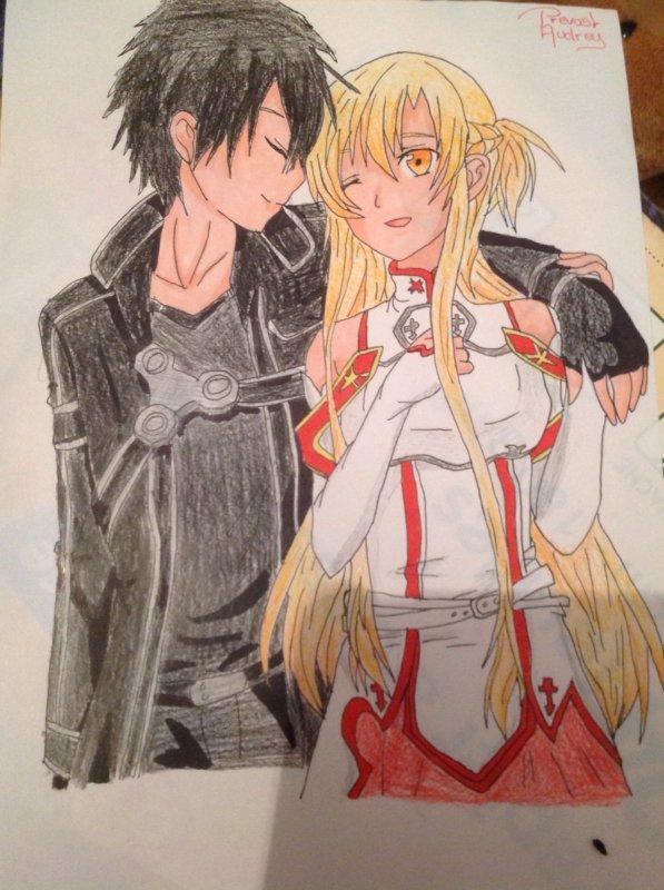 Dessin d'Asuna et Kirito n°3 ^^