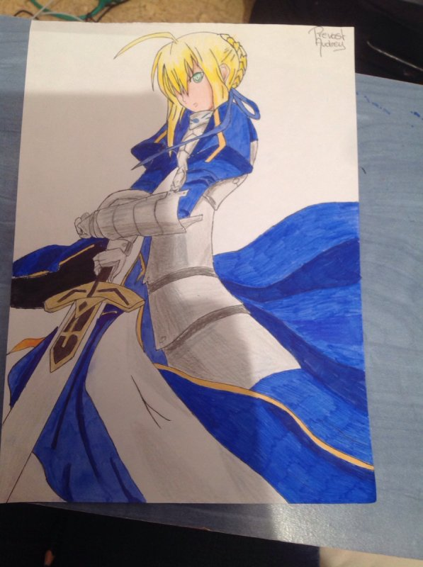 Dessin de Saber ( Fate Stay Night )