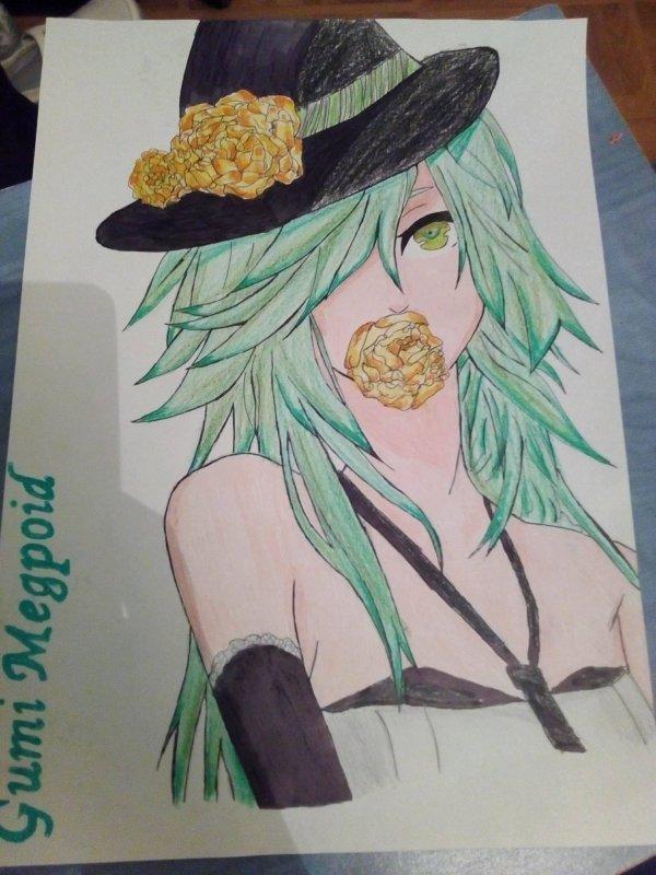Dessin de Gumi Megpoid (Vocaloid )