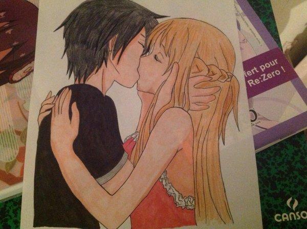 Dessin D'asuna et Kirito n°4 (Sword Art Online )