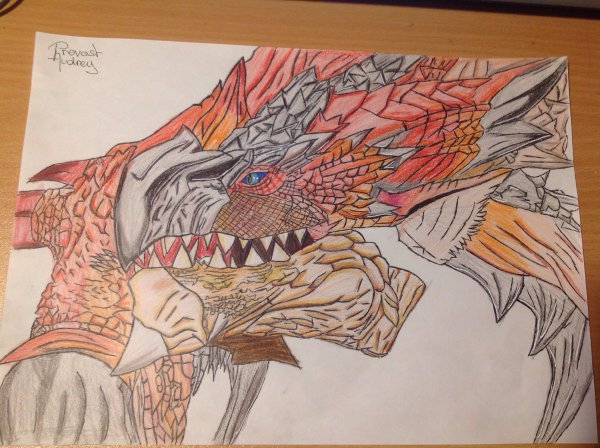 Dessin du Rathalos (Monster Hunter)