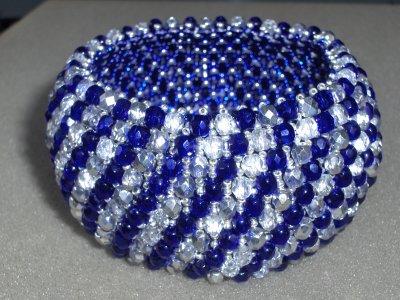 Parure cobalt et crystal argent