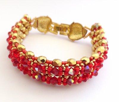 Le doux mariage du rouge et or pour ...