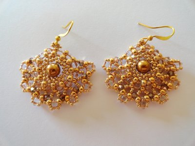 Ladies Fan Earrings