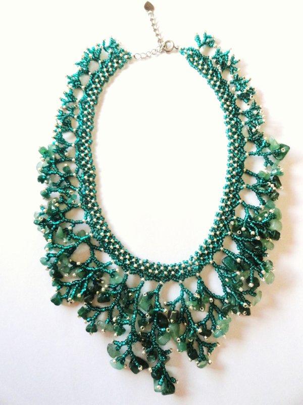 Parure corail jade !