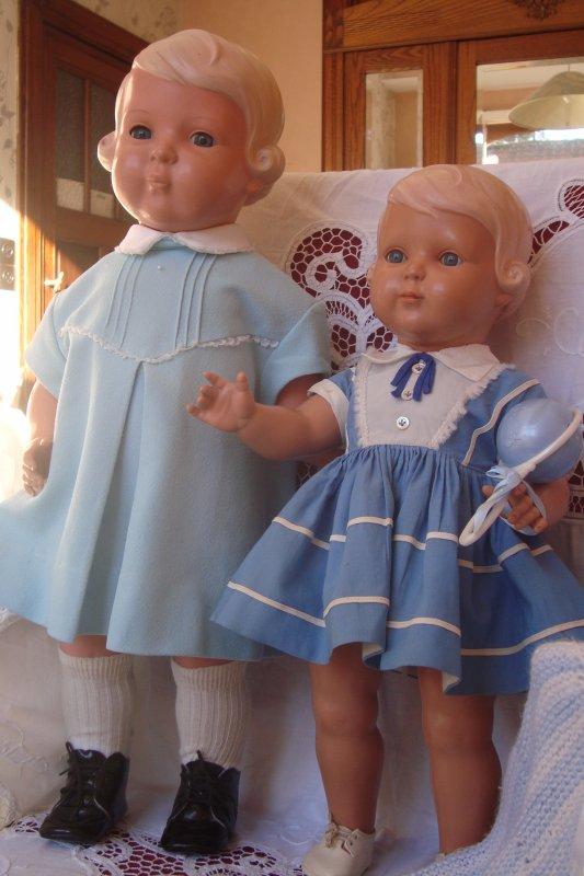 pas de nouvelle poupée aujourd'hui...trois heures de brocante par -3°....heureusement mes poupées elles, sont bien au chaud à m'attendre pour me réconforter !