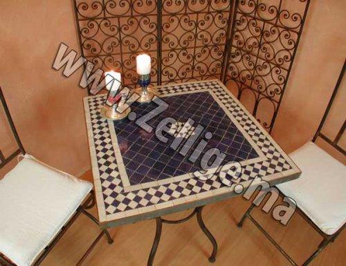 table mosaique zellige marocain carr e zellige marocain. Black Bedroom Furniture Sets. Home Design Ideas
