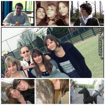 Jojo ; Ali ; Nat ; Moi ; Cédric ; Louise ; Math ; Khali ; le Poulain. <3