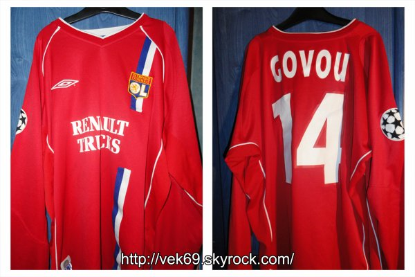 Maillot OL 2002-2003 europe GOVOU