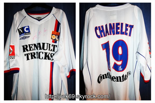 Maillot OL 2003-2004 domicile CHANELET (Amical)